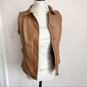 Baccini Faux Leather Vest